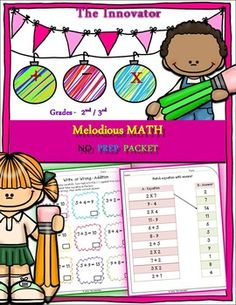 Melodious Math  No Prep Pack..Students will enjoy practicing Melodious Math with these B / W, colorful, engaging worksheets! This packet includes NO PREP worksheets to practice addition, subtraction and multiplication in INNOVATIVE ways as per below: Introduction sheet - Who am I?