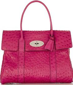 Love this!!! Hot Pink Ostrich skin Mulberry