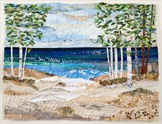Lake Michigan Collage Quilt. Ann Loveless