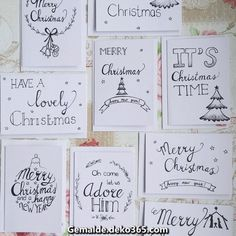 Handwritten Christmas cards Christmas cards - Home Page Christmas Tumblr, Christmas Ad, Diy Christmas Cards, Xmas Cards, Diy Cards, Christmas Ornaments, Christmas Calligraphy Cards, Diy Birthday, Birthday Cards