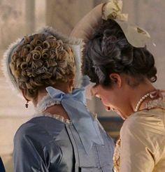 Kirsten Dunst as MarieAntoinetteand Mary Nighy as the Princesse de Lamballe inMarie Antoinette (2006).