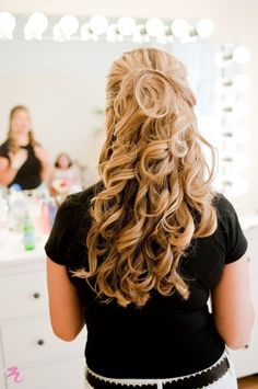 wedding day hair!