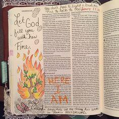 Sunday sermon was on the Burning Bush! #biblejournaling