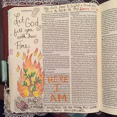 Sunday sermon was on the Burning Bush! #biblejournaling