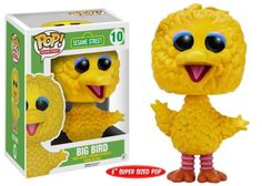 Can you tell me how to get, how to get to Sesame Street... look no further than the Sesame Street Big Bird Pop! Vinyl Figure! Standing approximately 6 inches tall, this multi-talented yellow bird Sesame Street Muppet will look perfect on your desk! Collect the whole Sesame Street gang (sold separately)! Ages 8 and up. #funko #popvinyl #actionfigure #collectible #BigBird