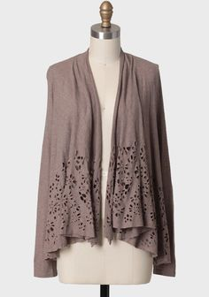 Floral Illusions Cutout Cardigan   Modern Vintage Sweaters