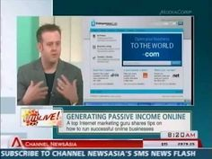 Channel News Asia Gets Up Close And Personal With Internet Marketer Derek Gehl In March 2012