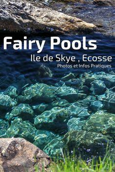 Découvrez les Fairy Pools, un des lieux les plus populaires de l'ile de Skye en Ecosse. La randonnée aux pieds des montagnes de Cuillin vous emmène le long d'une série de de piscines aux eaux transparentes. Entre les piscines, l'eau s'écoule en cascades. Plein de photos et des infos pratiques dans l'article