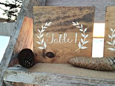 Wood Table Numbers Wedding Table Numbers by WoodenThatBeSomethin