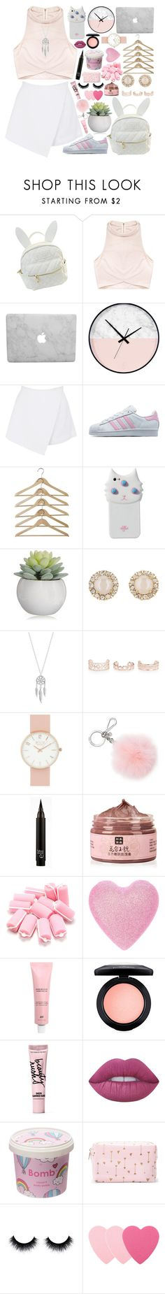 """""""That sounds fake, but okay"""" by skittlebum ❤ liked on Polyvore featuring cutekawaii, Rituals, BeginAgain Toys, adidas Originals, Valfré, Kate Spade, Lucky Brand, New Look, Michael Kors and MAC Cosmetics"""