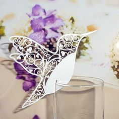 Pack of 50 Laser cut White Hummingbird Name Place Cards for Wine Glass AHG http://www.amazon.co.uk/dp/B00MHN8KAU/ref=cm_sw_r_pi_dp_1S1yvb1YVV1RN