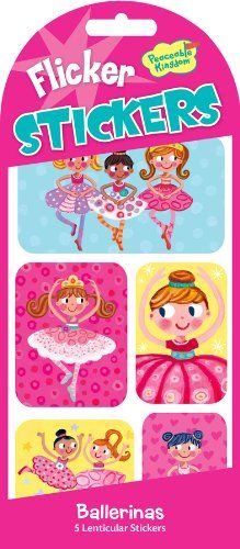 Amazon.com: Peaceable Kingdom / Ballerinas Picture-Changing Flicker Sticker Pack: Toys & Games