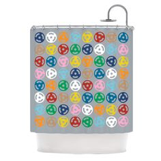Roll with It On Grey Shower Curtain