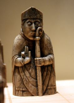 The Lewis Chessmen: nervous bishop