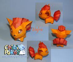 Paperpokés - Pokémon Papercraft: VULPIX CHIBI