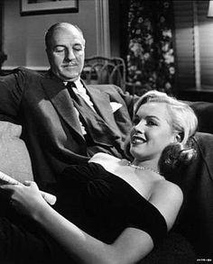 """The Asphalt Jungle"" (1950) Louis Calhern and Marilyn Monroe"