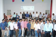 Sona Students gathered together to celebrate the IBM Bluemix launch