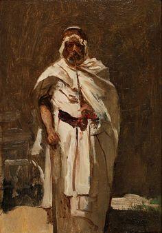 O pintor Dumax em trajes árabes, 1860 Camille Corot (França, 1796-1875) óleo sobre tela, 33 x 22 cm Coleção Particular