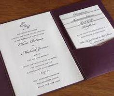 Pocket Invitation wedding wording - Rho