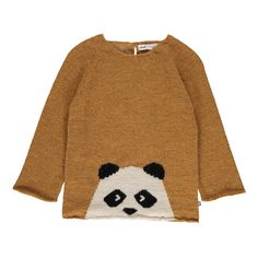 Exclusivité Oeuf x Smallable - Pull Baby Alpaga Panda Ocre Oeuf NYC - Mode Bébé- Smallable