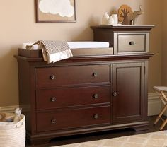Larkin Hi-Lo Changing Table Espresso