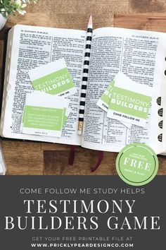 March Testimony Builder Cards - Writing the Gospel in Our Hearts - Prickly Pear Design Co.