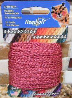 BURGANDY 03 Needloft Craft Yarn for Plastic by CraftyCrossStitches, $3.00