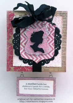 Catherine Scanlon: Mothers Day project: tim Holtz Mini Silhouettes + Regal Crest die http://sizzixblog.blogspot.com/2013/04/its-sizzix-mothers-day.html