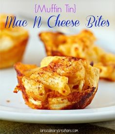 The ultimate comfort food: Creamy Muffin Tin Mac N Cheese Bites from LorisCulinaryCreations.com