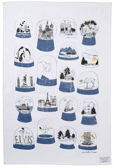 Travel the world and see Elvis, all in one snow globe Shake it tea towel by…