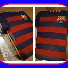 Tarta camiseta barça FC Barcelona // Barcelona T-shirt cake