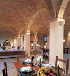 I want this one bad! Tuscan renovation with vaulted ceilings and arches. Awe inspiring...