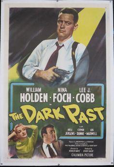 THE DARK PAST  Rare Film Noir Movie Poster by ScreenlandMoviepaper