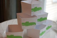 Alligator Candy Cups, Alligator Theme, Alligator Baby Shower, Alligator Birthday, 12 Pcs. $10.00, via Etsy.
