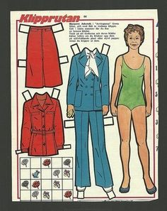 Margaret Ashcroft  Vintage Paper Doll from Sweden The Main Chance  Brothers