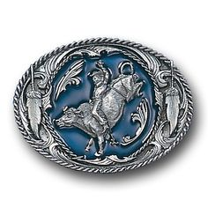 """Checkout our #LicensedGear products FREE SHIPPING + 10% OFF Coupon Code """"Official"""" Bucking Bronco  Enameled Belt Buckle - Officially licensed Siskiyou Originals product Fully cast, metal buckle Bail fits belts up to 2 inches wide Exceptional detail with an enameled finish  - Price: $21.00. Buy now at https://officiallylicensedgear.com/bucking-bronco-enameled-belt-buckle-z2e"""