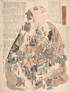 Strange Medical-Themed Woodblock Prints From 19th-Century Japan