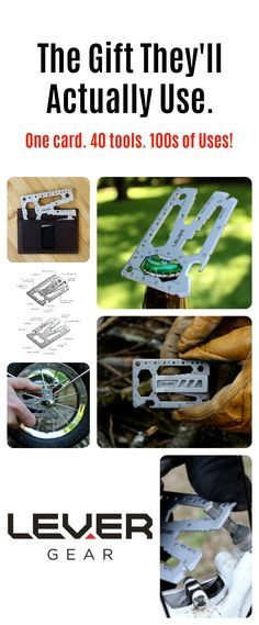 Lever Gear Toolcard Pro - 40 Tools in 1 Credit Card Multitool. Cute Gifts, Gifts For Dad, Holiday Gifts, Christmas Gifts, Great Gifts, Homemade Gifts, Diy Gifts, Milestone Birthdays, Everyday Carry