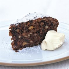 A picture of Delia's Italian Chocolate Nut Christmas Cake recipe