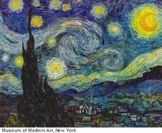 Vincent van Gogh: Starry Night  #Expressionism....not a big painting fan, but I LOVE this!!!