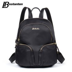 (36.29$)  Buy here - http://aip0n.worlditems.win/all/product.php?id=32726430330 - Bostanten Womens Backpack Nylon Fashion Black/Green/Rose-red Zipper Pockets Mochila Escolar Durable Backpacks For Teenage Girls