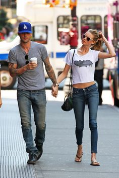 adam levine and behati street style