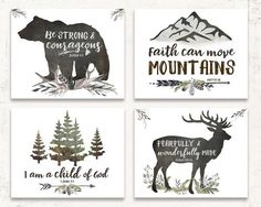 WOODLAND NURSERY WALL ART SET OF FOUR Add these best selling woodland nursery art prints to your rustic boys room or woodland nursery walls! This carefully curated set of prints will make a stunning gallery wall for your little boys room! Little Boys Rooms, Baby Boy Rooms, Baby Boy Nurseries, Rustic Baby Nurseries, Woodland Nursery Prints, Boho Nursery, Nursery Wall Art, Woodland Decor, Bedroom Wall