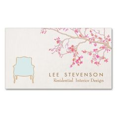 Interior Design French Chair Staging Decorator Business Card Template Unique Cards Ideas