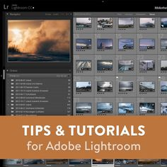 A collection of tutorials and tips for using Lightroom