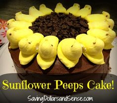 Super easy Easter/Spring Cake decorating with Peeps!