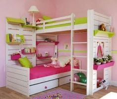 Corner Bunk Beds - Bing Images Gotta do this for my imaginative Divas!