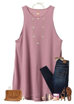"""•Good things take time•"" by maggie-prep ❤ liked on Polyvore featuring RVCA, American Eagle Outfitters, Steve Madden, Tory Burch, Moon and Lola, Kendra Scott, Kate Spade, tarte, Too Faced Cosmetics and Charlotte Tilbury"