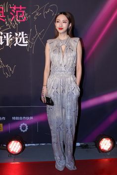 Fabulously Spotted: Zhang Li Wearing Giorgio Armani - 2013 China Elegance Grand Ceremony - http://www.becauseiamfabulous.com/2013/10/zhang-li-wearing-giorgio-armani-2013-china-elegance-grand-ceremony/