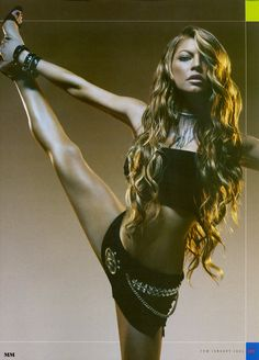 Fergie stretching that hot body of hers!!!